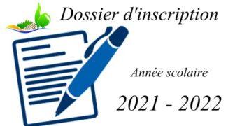Dossier d'inscription 2021-2022